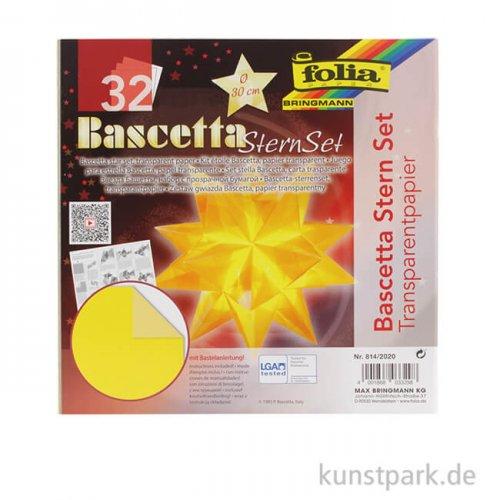 Bascetta-Stern Bastelset, 115g - gelb 15x15 cm