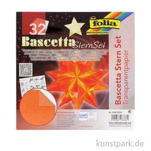 Bascetta-Stern Bastelset, 115g - orange 15x15 cm