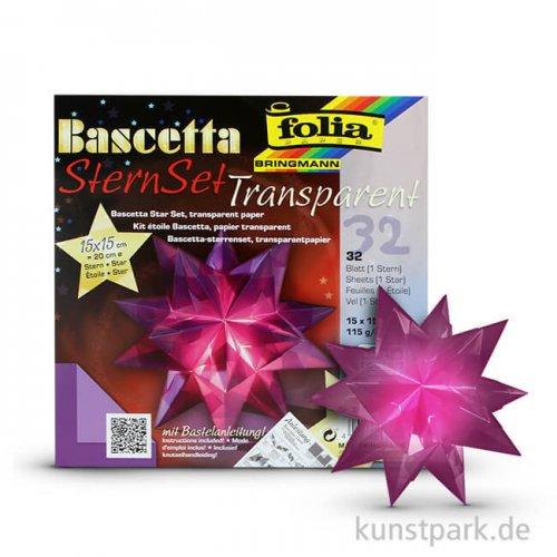 Bascetta-Stern Bastelset, 115g, 15x15 cm - violett