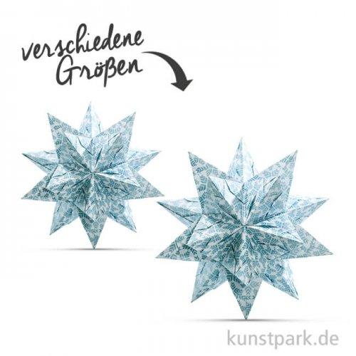 Bascetta-Stern Bastelset - Weiß-Sterngrafik Eisblau, 90g