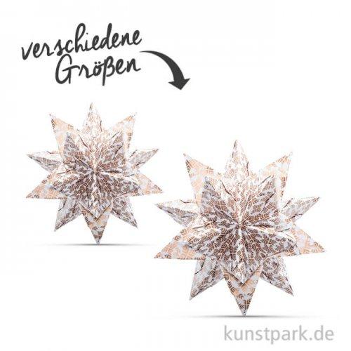 Bascetta-Stern Bastelset - Weiß-Sterngrafik Kupfer, 90g