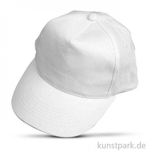 Baseball-Cap aus Baumwolle - weiß, 49,5-56 cm
