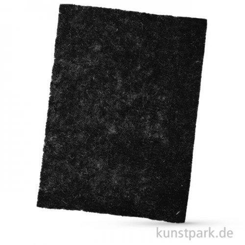 Bastelfilz, 1 Bogen, 4mm 30 x 40 cm | Schwarz