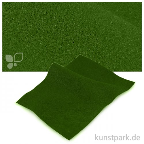 Bastelfilz 20x30 cm, 2mm Einzelbogen | Grasgrün