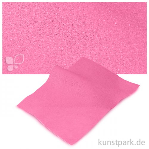 Bastelfilz 20x30 cm, 2mm Einzelbogen | Rosa