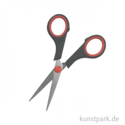 Bastelschere - Basic, Spitz mit gummierten Innengriff, 13 cm