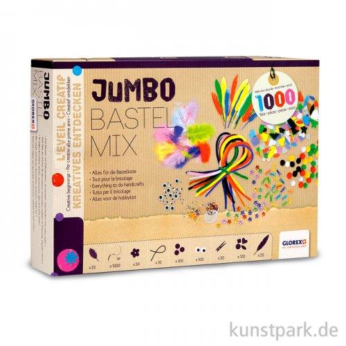 Bastelset - Jumbo Bastel Mix mit viel Inhalt für die Bastelkiste
