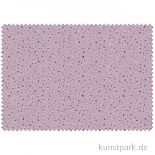 Baumwollstoff - Sterne Altrosa - 1 m x 1,5 m