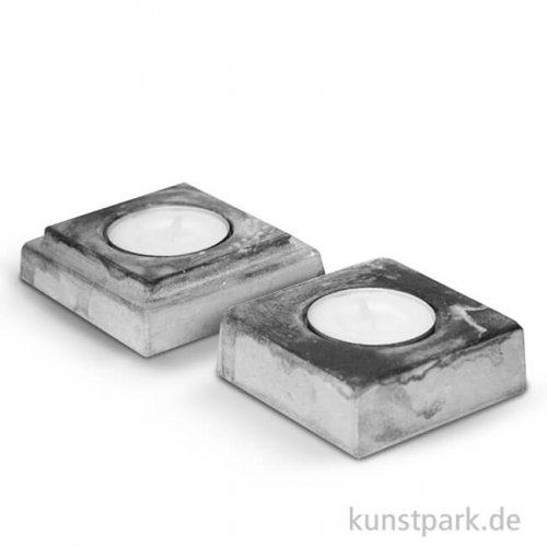 Beton-Gießform Kerzenständer 70x70 mm, 2 Stück