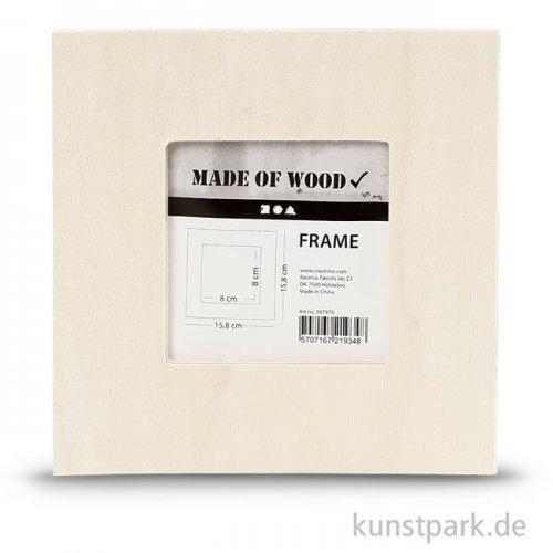 Bilderrahmen aus Holz, 15,8x15,8 cm