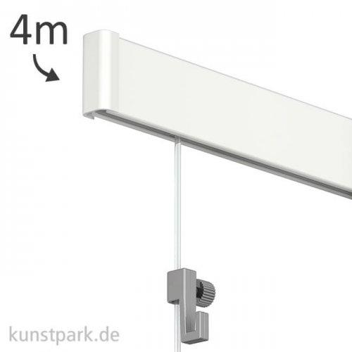 Bilderschienen-System Click Rail - Set 4m, weiß mit allem Zubehör