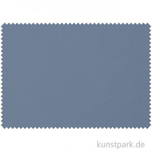 Bio-Baumwollstoff - Altblau Uni - 1 m x 1,4 m
