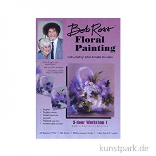 Bob Ross DVD 3 Stunden Blumenmalerei, Deutsch