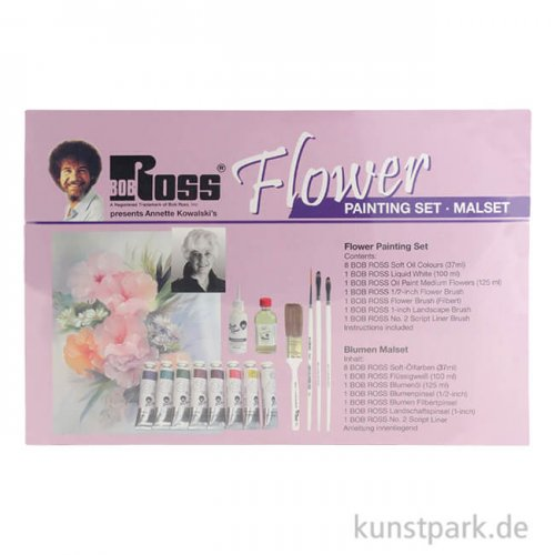 Bob Ross - Blumen Malset mit viel Zubehör