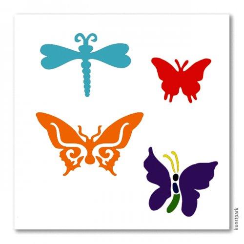 Bodypainting-Schablonen Set Butterfly