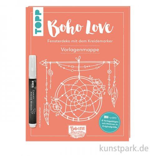 Boho Love - Fensterdeko mit dem Kreidemarker, Topp Verlag
