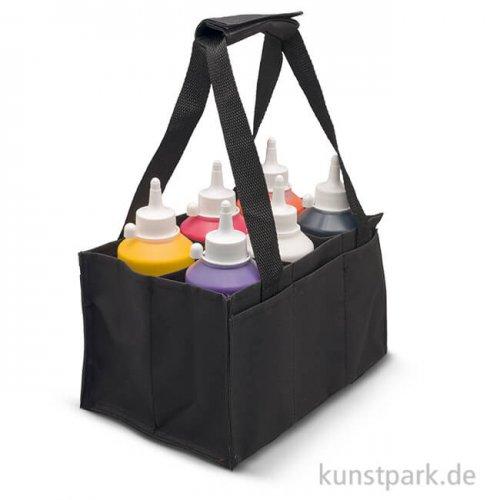Bottle Bag - Nylontasche für Flaschen, schwarz, hoch