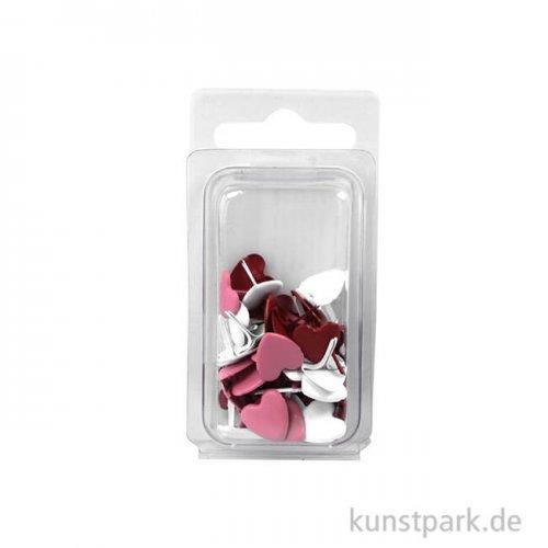 Brads Herz - Rot-Töne 12 mm - 50 Stück