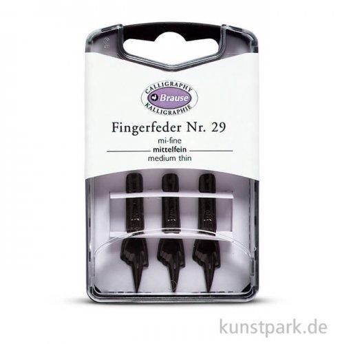 BRAUSE Fingerfeder Nr. 29, 3 Stück