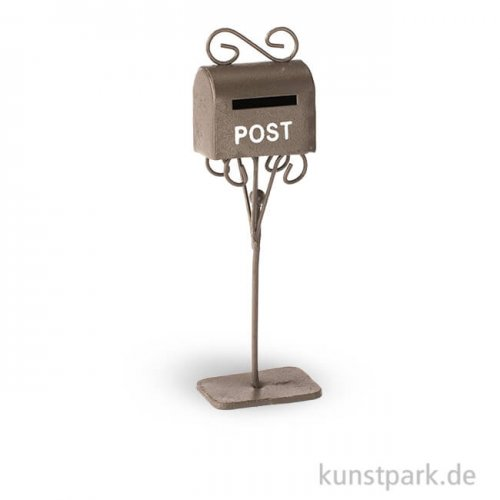 Briefkasten aus Metall - Rost, 3x2x11 cm