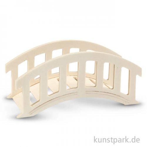Brücke aus Holz, 15x6x7 cm