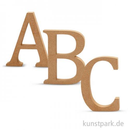 Großbuchstaben aus Holz, 13 cm