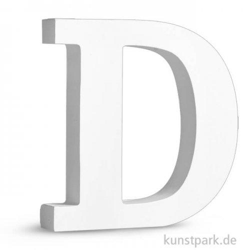 Buchstaben aus MDF, weiß, Höhe 11 cm, Stärke 2 cm Einzeln | D