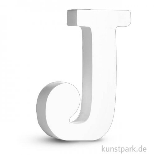 Buchstaben aus MDF, weiß, Höhe 11 cm, Stärke 2 cm 11 cm | J