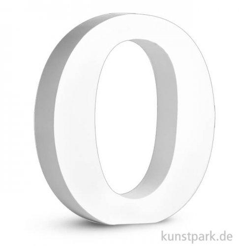 Buchstaben aus MDF, weiß, Höhe 11 cm, Stärke 2 cm 11 cm | O