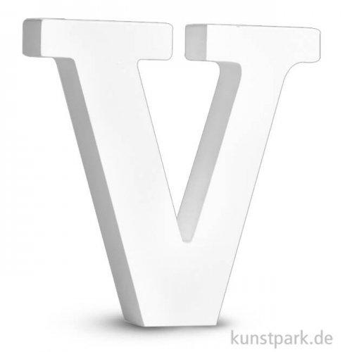 Buchstaben aus MDF, weiß, Höhe 11 cm, Stärke 2 cm Einzeln | V
