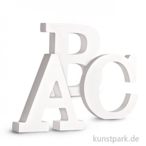 Buchstaben aus MDF, weiß, Höhe 11 cm, Stärke 2 cm