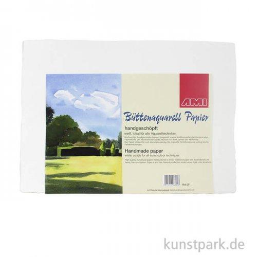 Bütten Aquarellpapier Gewicht 400 g/m² 25 x 35 cm, 5 Blatt