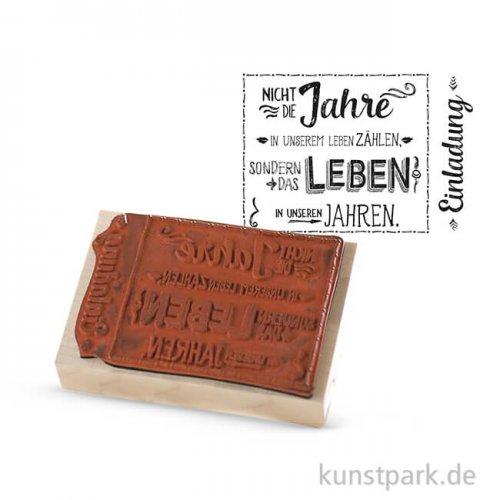 Butterer Stempel - Einladung, 7x10 cm