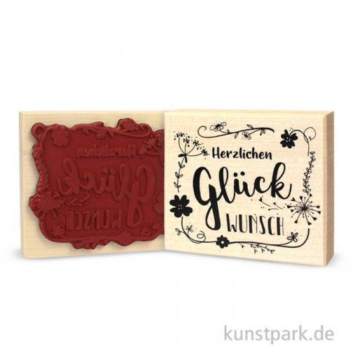 Butterer Stempel - Herzlichen Glückwunsch, 8x9 cm