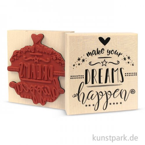 Butterer Stempel - Make your Dreams Happen, 8x9 cm