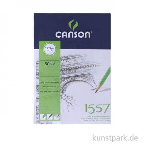 Canson 1557 Skizzenpapier, 50 Blatt, 120 g 14,8 x 21 cm