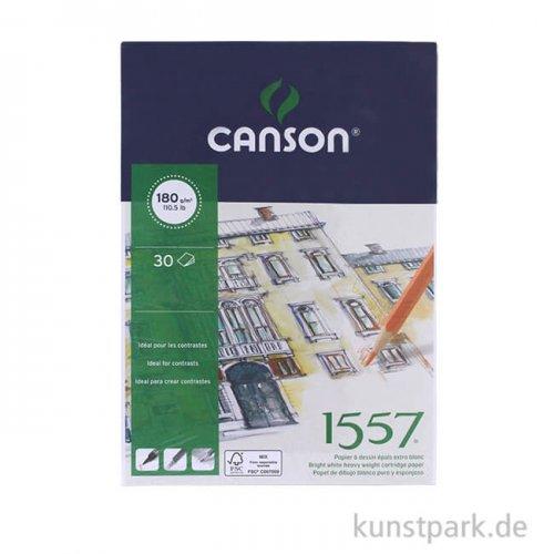 Canson 1557 Zeichenpapier, 30 Blatt, 180 g 14,8 x 21 cm