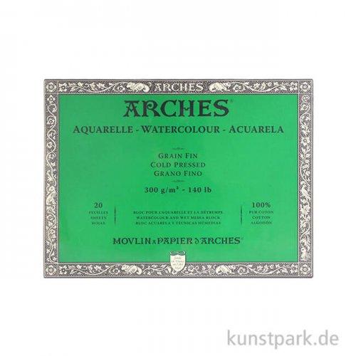ARCHES Aquarellpapier fein, 20 Blatt, 300g 23 x 31 cm