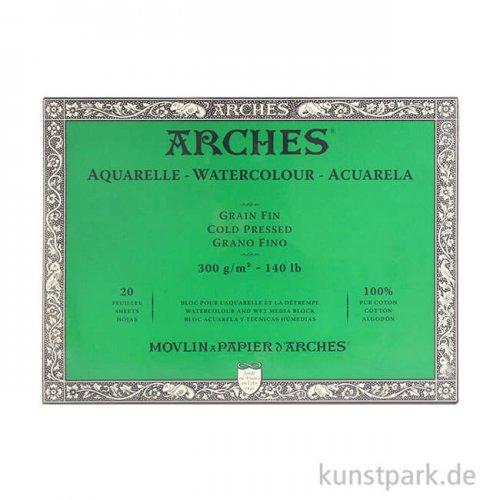 ARCHES Aquarellpapier fein, 20 Blatt, 300g 31 x 41 cm