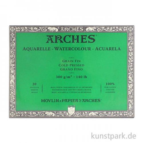 ARCHES Aquarellpapier fein, 20 Blatt, 300g