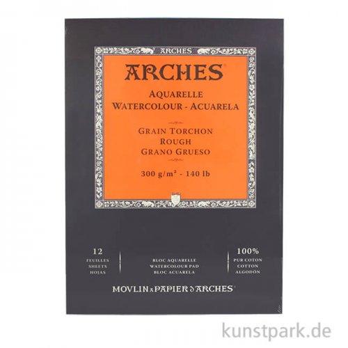 ARCHES Aquarellpapier rau, 12 Blatt, 300g