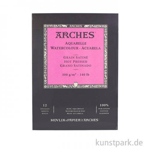 ARCHES Aquarellpapier satiniert, 12 Blatt, 300g 23 x 31 cm
