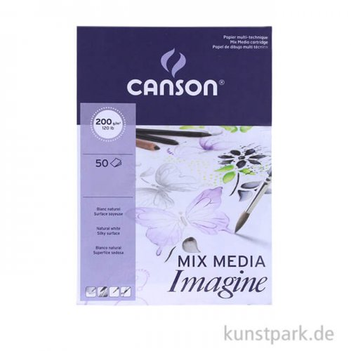 Canson IMAGINE Multimedia Papier, 200g DIN A4 (50 Blatt)