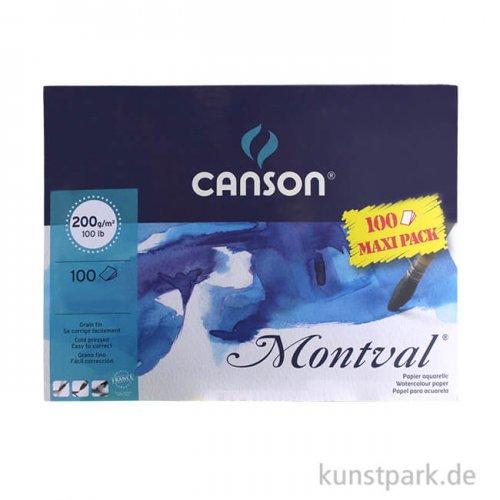 Canson MONTVAL Aquarellblock, 100 Blatt, 200g 24 x 32 cm