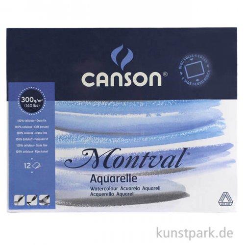 Canson MONTVAL Aquarellblock, 300g, 12 Blatt, fein 40 x 50 cm