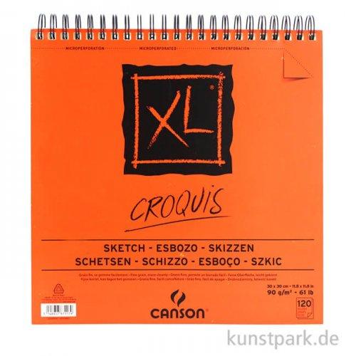 Canson Skizzen XL Spiral-Block, 120 Blatt, 90g, 30 x 30 cm