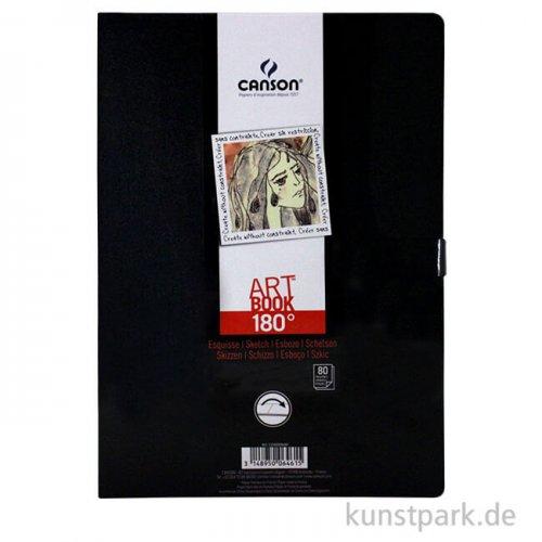 Canson Skizzenbuch 180° Grad, 80 Blatt, 96 g 21,6 x 29,7 cm