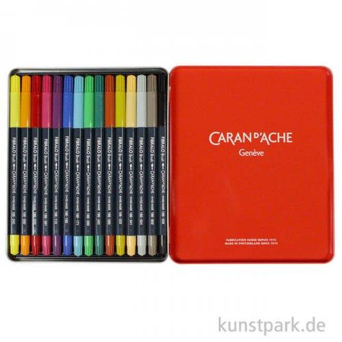 Caran d'Ache FIBRALO Brush Pen 15er Set