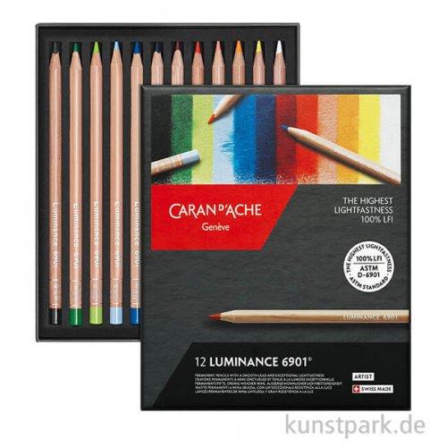 Caran d'ache - Luminance 6901, 12 Farbstifte im Set