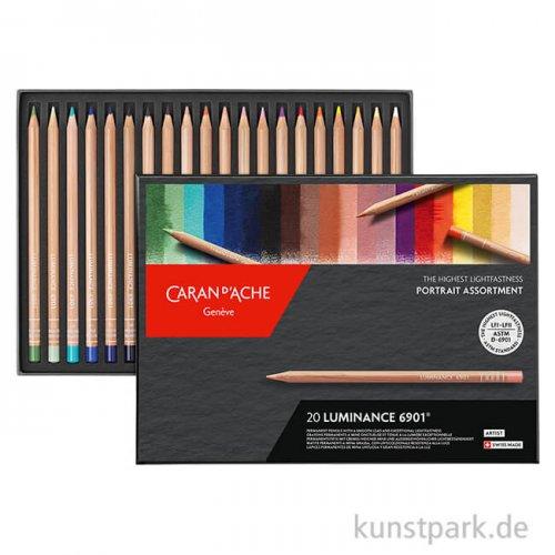 Caran d'ache - Luminance 6901, 20 Farbstifte im Set Portrait